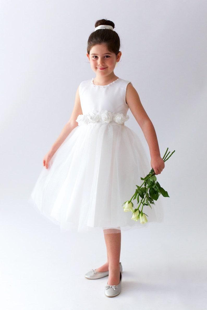 aac65fd43 SUMMER SALE Flower Girl Dress Blossom tulle roses | Etsy