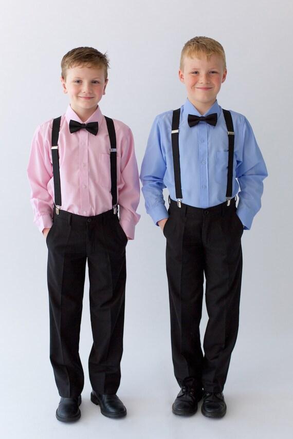 Chasseur blanc, rose, bleu seulement - garçons classique à col chemise, 10 dollars