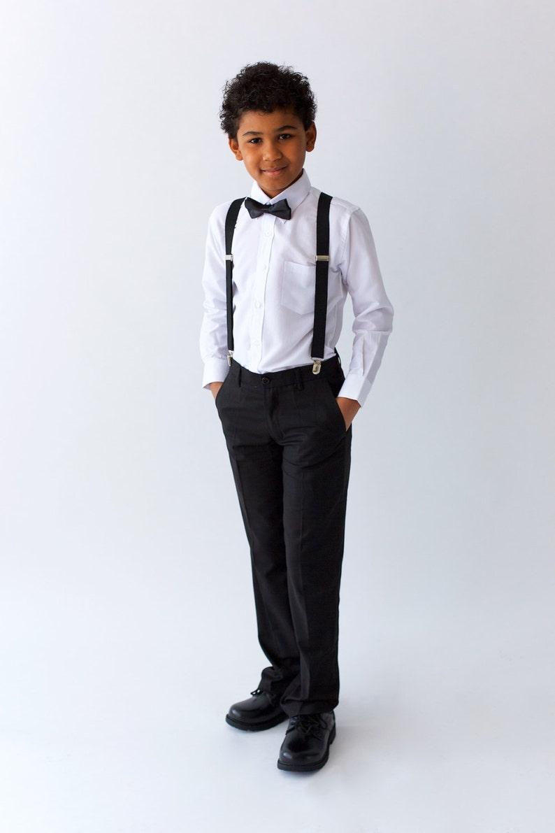 Boys Black Suit Pants, page boy out, wedding boy suit, ringer bearer outfit, boys formal wear, graduation outfit, holy communion