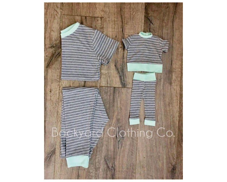 56ef03723951 American girl matching pajamas boy and doll Pjs girl and