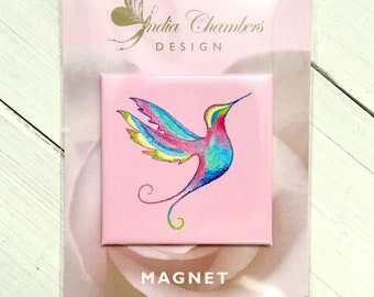 Hummingbird Magnet -animal magnets -cute fridge magnets -fridge magnets -hummingbird gifts -bird gifts for women -pink gifts -bird gifts