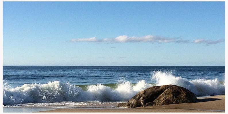Lucy Vincent Beach  Ocean Surf on Rocks Cape Cod  Martha's image 0