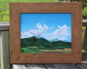 Harvest-Framed Original Acrylic on Gessobord