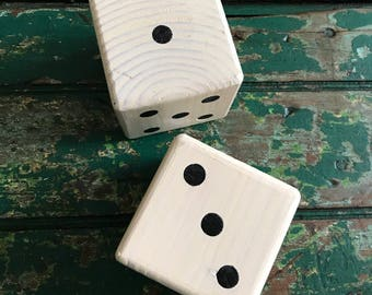 Inlaid dice/home decor/outside dice/inlaid wooden dice