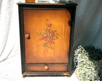 Vintage Imperial Wood Cabinet | Imperial Grand Rapids Cabinet | Floral  Pattern Imperial Cabinet | Antique Liquor Cabinet | Wood Sideboard