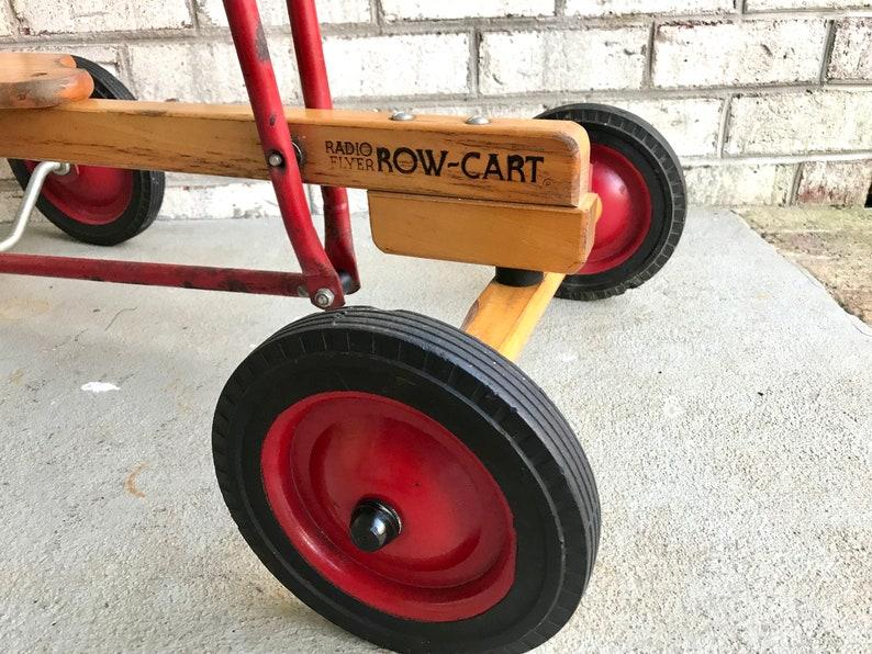Vintage Radio Flyer Kids Row Cart Radio Flyer Childs Etsy