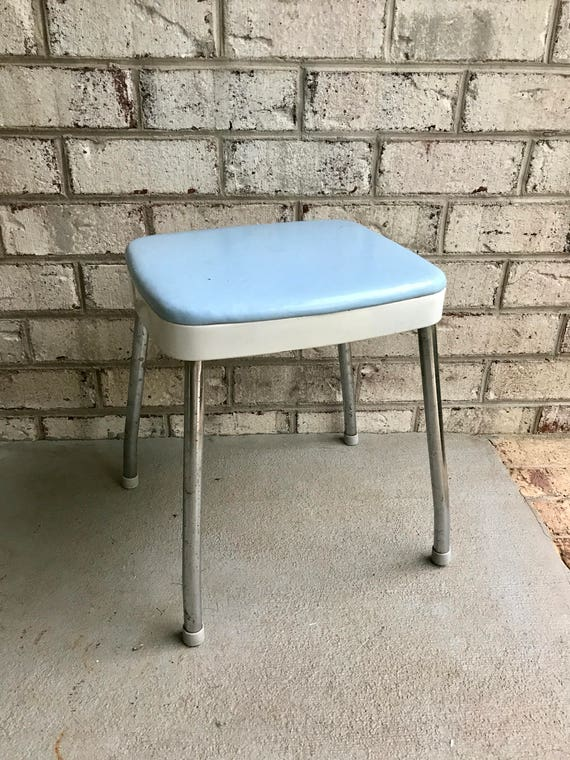 Pleasant Vintage Cosco Step Stool Baby Blue Vinyl Step Stool Mid Century Industrial Stool Carolina Blue Step Stool Cottage Chic Retro Stool Creativecarmelina Interior Chair Design Creativecarmelinacom