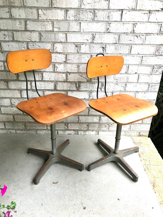 Stupendous Industrial Adjustable Chairs Ajustrite Chairs Industrial Seating Rustic Metal Chair Mid Century Modern Metal Stools Industrial Decor Unemploymentrelief Wooden Chair Designs For Living Room Unemploymentrelieforg