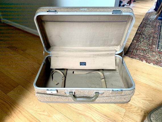 Set of Halston III Tweed Suitcases | Rolling Twee… - image 5