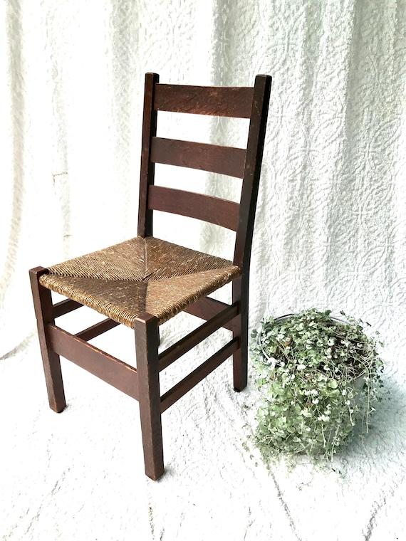 Antique Gustav Stickley Ladder Back Chair Arts And Crafts | Etsy