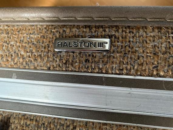 Set of Halston III Tweed Suitcases | Rolling Twee… - image 10