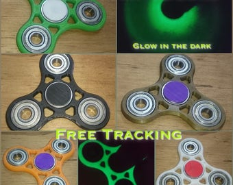 Fidget hand tri spinner finger spin focus toy anxiety & stress relief reliever - 3D Printed Made in USA PR227