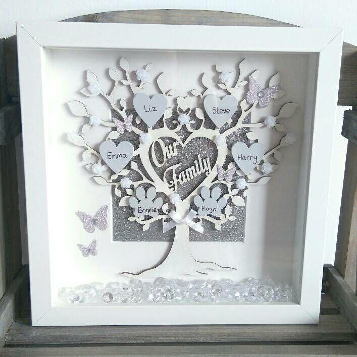 personalised 39 our family 39 family tree frame etsy. Black Bedroom Furniture Sets. Home Design Ideas