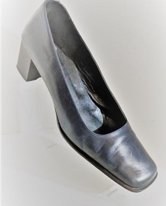 Coach Pump Shoes Vintage High Heels Blue