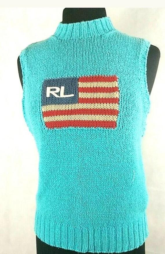 Vintage Ralph Lauren 70s Flag Sweater Vest