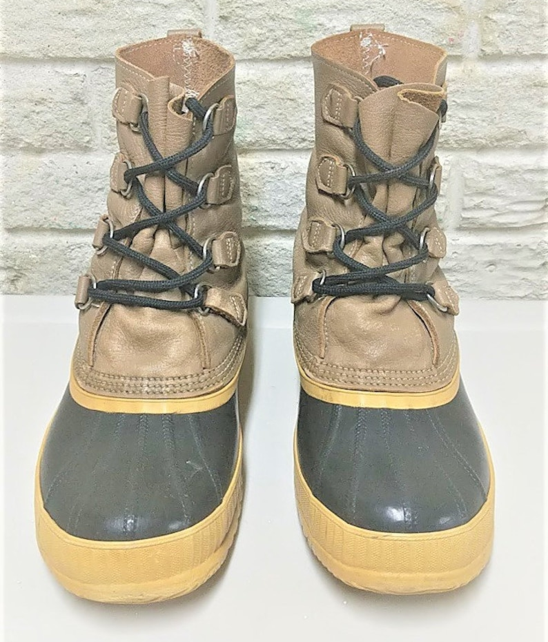 Sorel Boots Distressed Rubber Made in Canada Duck Boots