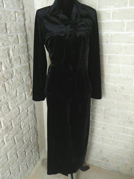 Black Velvet Suit, Women's Black Velvet, Velvet Su