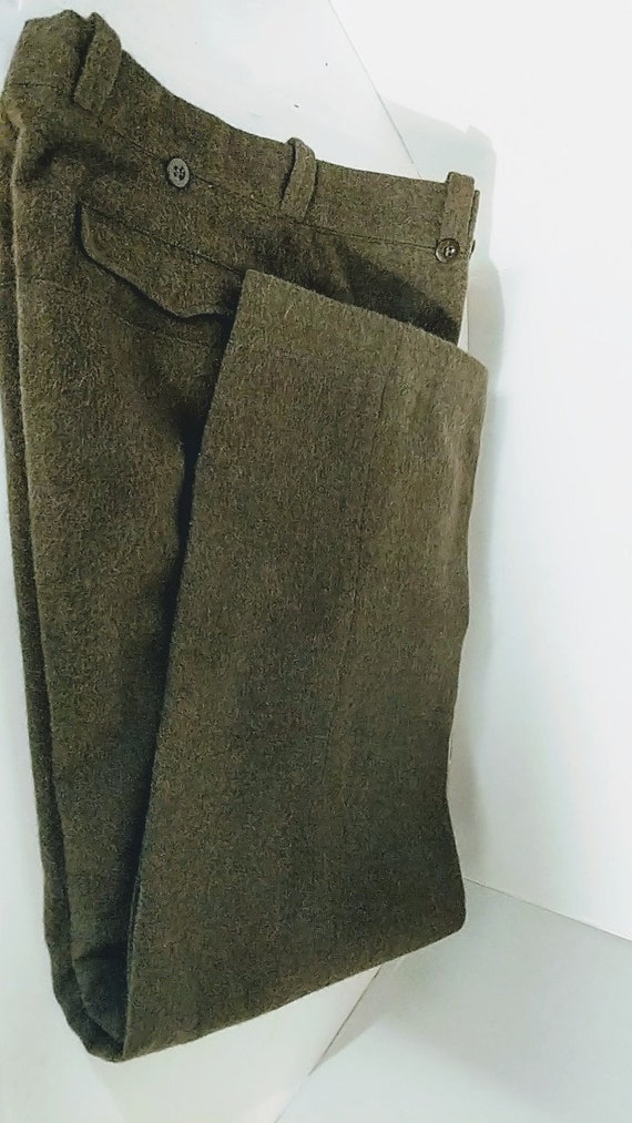 Vintage Military Pants 1950s Wool Outdoor Field Pa
