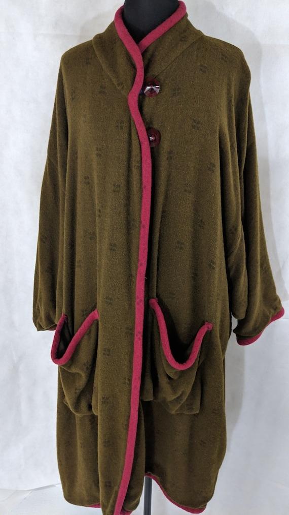 Boho Poncho Wool Blanket Coat Langenlook