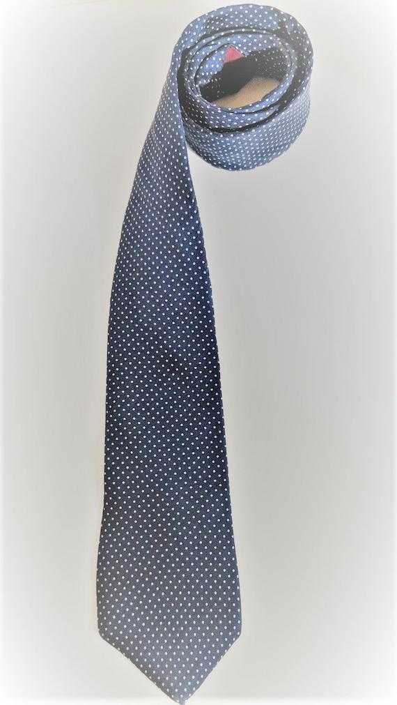 Blue Silk Tie Silk
