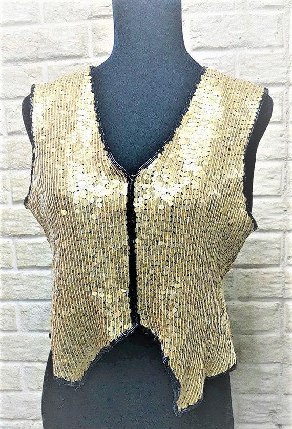 Silk Vest Sequin Paillettes