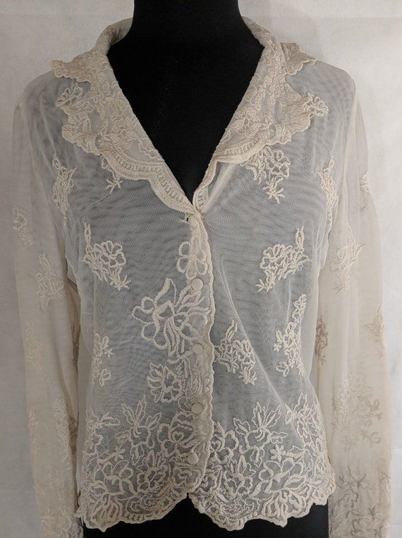 Vintage Lace Blouse Vintage Saks Fifth Avenue Foli