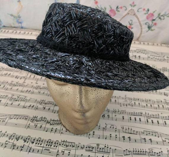 Vintage Straw Hat Vintage 1950s Hat Ladies Hat Hip