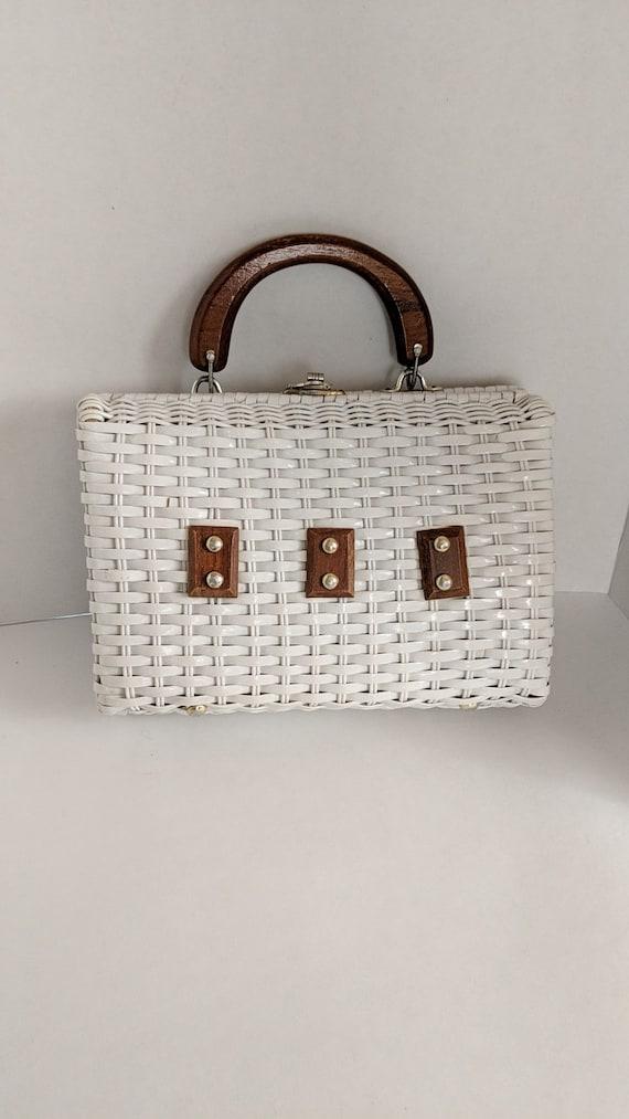 Wicker Purse Vintage Purse True Vintage Handbag Vi