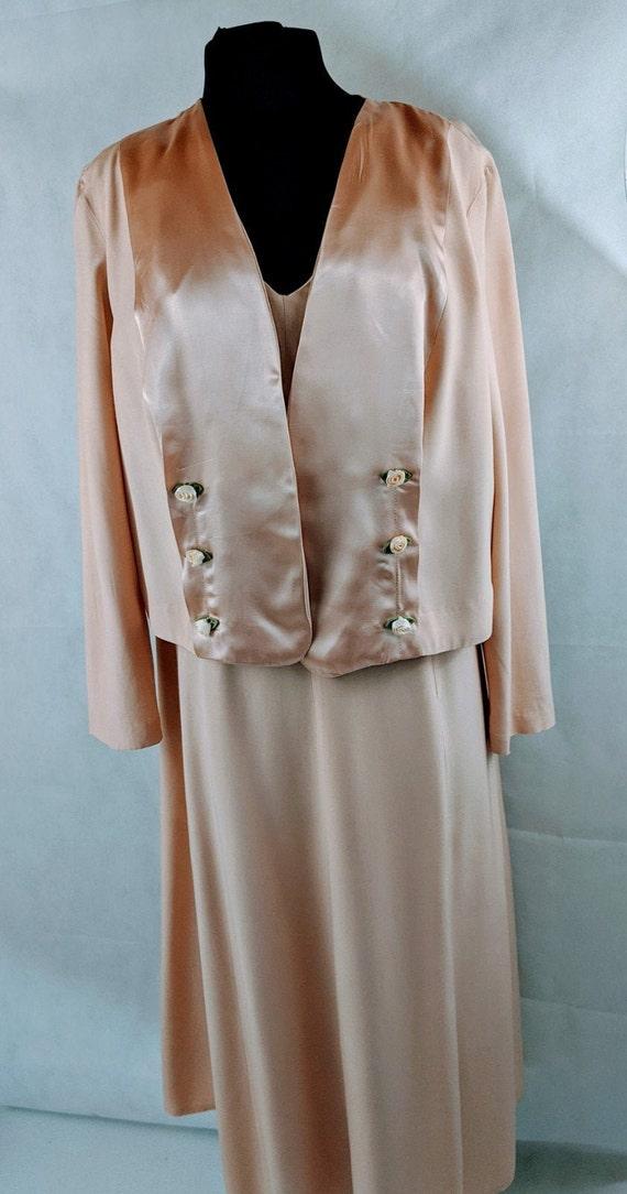 Vintage Occasion Bolero Jacket Dress 1980 VTG