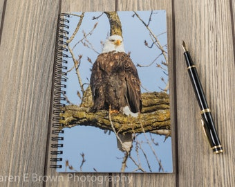 Genuine Leather Journal Notebook Notepad Book Hardcover Brown 3D Emboss Eagle
