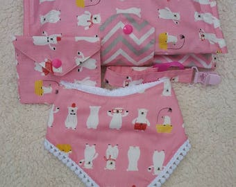 Set handbag bag Diapers x pacifier, pacifier Holder and Bavalino/baby set