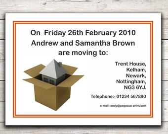 Personalised Change of Address Cards Design 81
