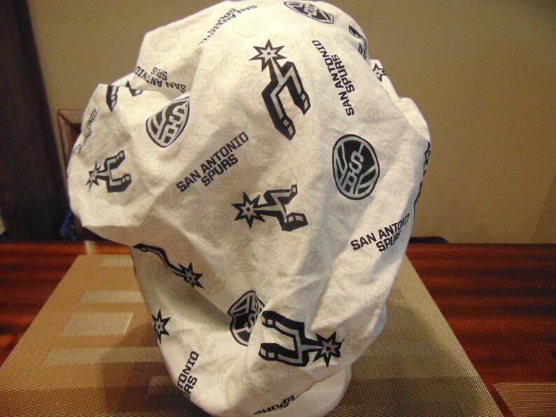 San Antonio Spurs Bouffant style scrub hat