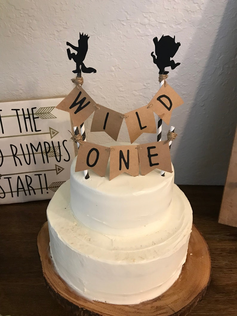 Wild one cake topper with smash cake topper