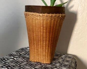 Beautiful vintage wicker basket