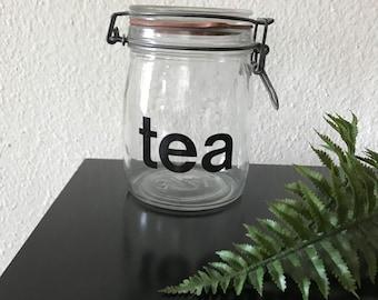 Glass Tea container jar
