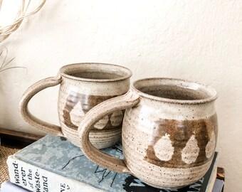 Set of 2 vintage  ceramic mugs