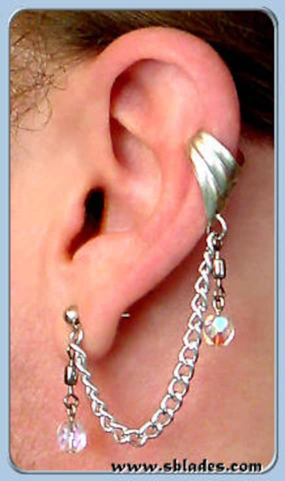 Amira Slave Earring Ear Chain Non Pierced To Multiple Ear Etsy