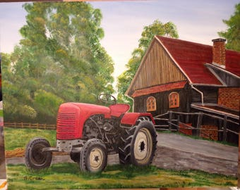 Red Tractor by House