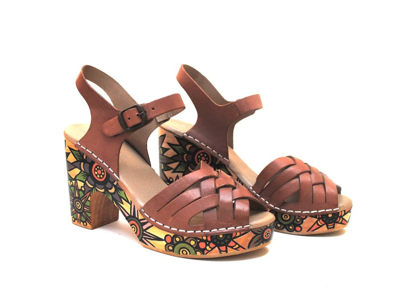 2e8080328d794 Autumn Star Hand Painted Upcycled Recycled Women s Tan