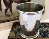 Vintage Mint Julep Cup, Boardman, Mississippi Julep Cup, Kentucky Derby, Derby Party, Mint Julep Collection, Handmade Pewter, Made in USA