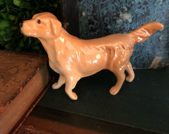 Vintage Beswick Golden Retriever Dog Figurine. Made in England. Beswick England. Pup. Pooch. Vintage collectible.