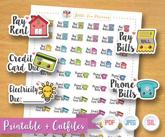 sale 50 off home bill stickers house bill stickers pay rent etsy