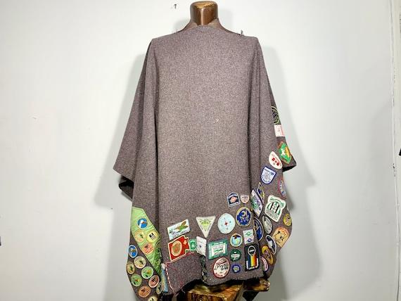 Vintage Girl Guides/Brownies Blanket Poncho. Campi