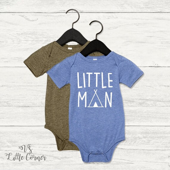 15862a83f540 little man baby boys bodysuit onesie toddler shirt teepee baby