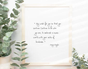 Maya Angelou Quote Etsy