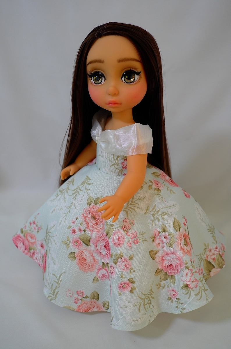 Floral Gown Doll Clothing