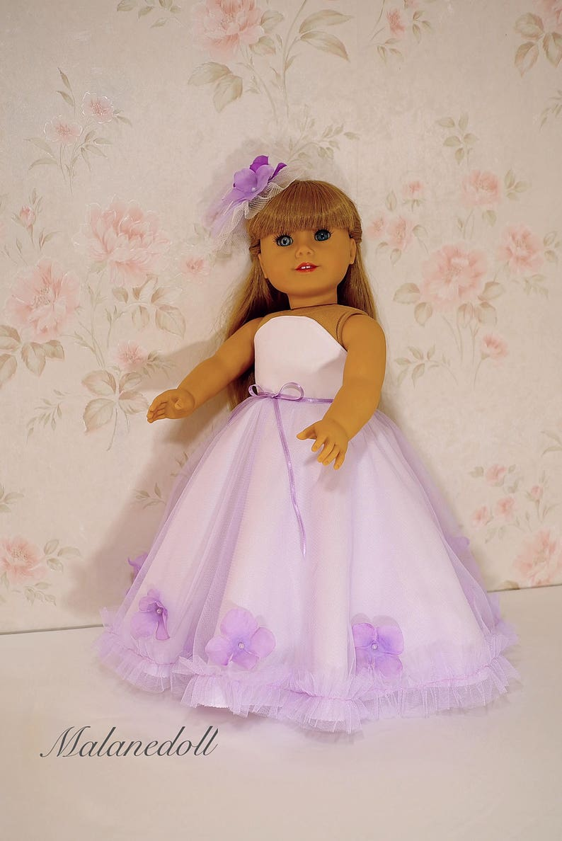American Girl Dress with Purple Flower
