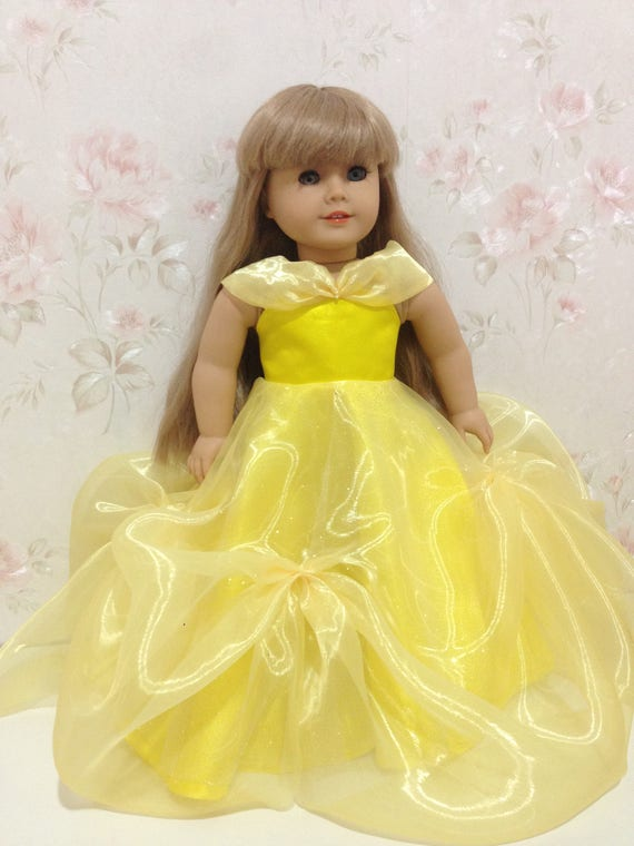 Classic yellow ball gown made to fit like American girl doll   Etsy