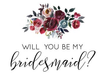graphic regarding Will You Be My Bridesmaid Free Printable named Ga Curtis upon Etsy
